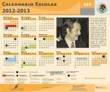 CALENDARIO ESCOLAR 2012-2013 DE LA SEP
